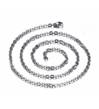 Stainless Necklace Pendant Accessory Inches in Women's Chain Necklaces