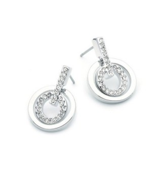 Rhodium Classic Earrings Swarovski Crystals