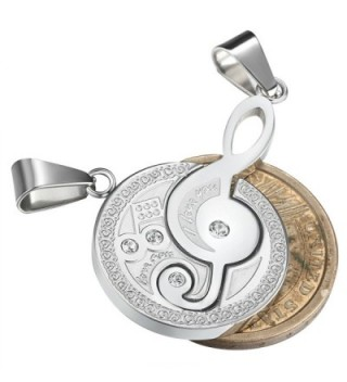 Jstyle Jewelry Stainless Pendant Engraved in Women's Pendants