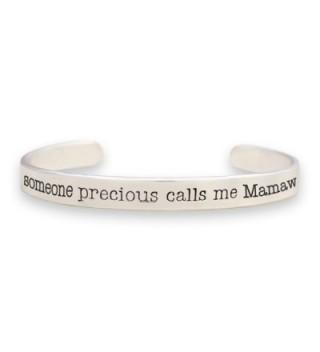 Lola Bella Gifts Someone Precious Calls Me Mamaw Cuff Bracelet w/ Organza Pouch and Gift Box - CR187IY628M