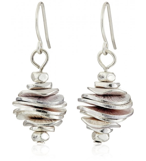 Kenneth Cole New York Silver-Tone Stacked Disc Drop Earrings - CI11CJYXKK9
