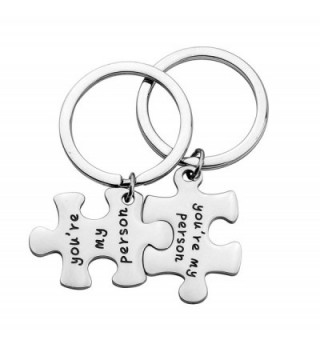 WUSUANED You're My Person Necklace/Keyring Gift for Best Friend Wife Girlfriends - Puzzle keyring - CU12OCMLQHR