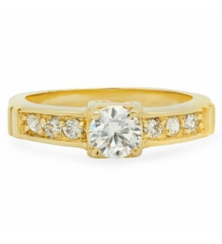 Bling Factory Solitaire Microfiber Polishing in Women's Band Rings