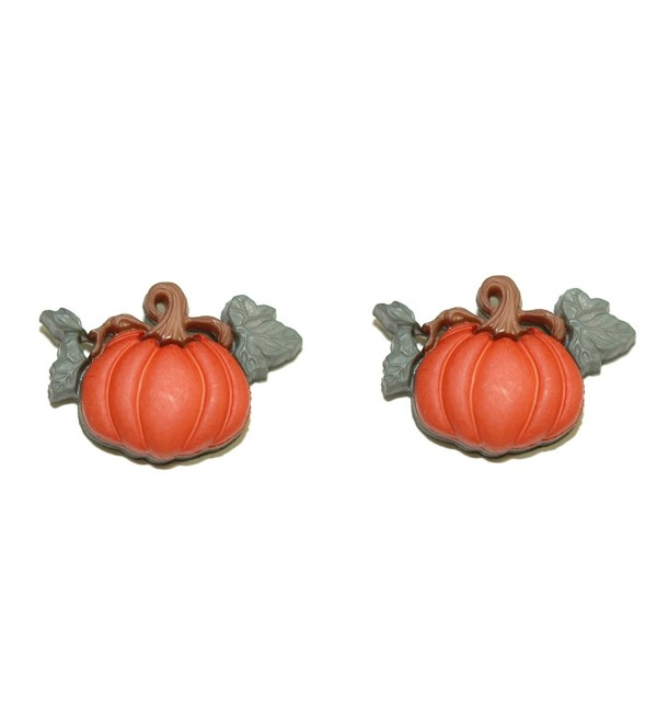 Pumpkin Halloween Thanksgiving Fall Clip On Earrings (H060clip) - CE1820WE54S