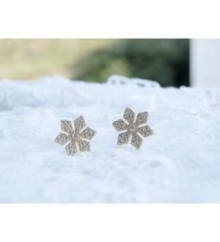 YAN LEI Sterling Snowflake Earrings in Women's Stud Earrings