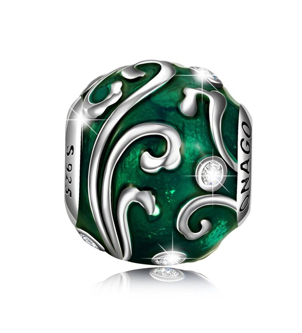 """LONAGO """"Love of Nature"""" Charms 925 Sterling Silver Bead Charms - Fern-Day - C5186G57CUK"""