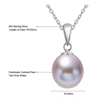 Sterling Necklace Freshwater Cultured Lavender in Women's Pendants