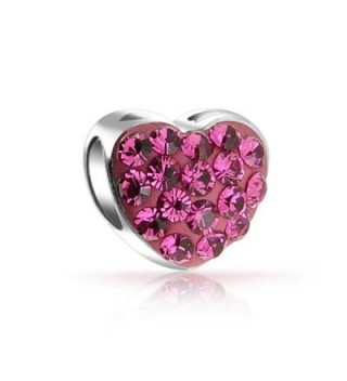 Bling Jewelry Silver Crystal Heart