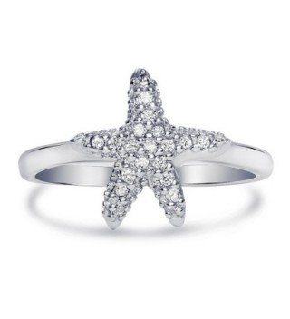 Sterling Silver Cubic Zirconia Starfish Ring- 11mm - CU12JD9H0J9