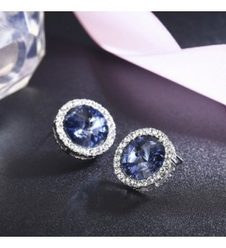 SBLING Platinum Plated Earrings Swarovski Crystals