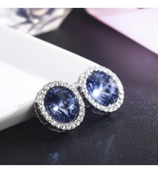 SBLING Platinum Plated Earrings Swarovski Crystals in Women's Stud Earrings