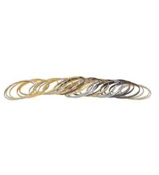 Lux Accessories Textured Multiple Bracelet