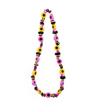 Bead String Necklace Liquorice Allsorts Elasticated Made With Resin by JOE COOL - CC12C76A96F