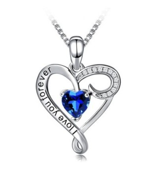 Necklace Long Way Girlfriend Christmas - i love you forever -Royal blue - CK187QARAD7