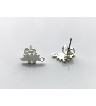 Katara Decor Silver plated Stegosaurus Minimalist in Women's Stud Earrings