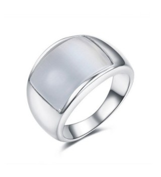 DIFINES Redbarry Trendy Simulated Opal 12mm Unisex Wide Cocktail Thumb Ring for Women- Size 5.5 to 11 - C912BSP8ILP
