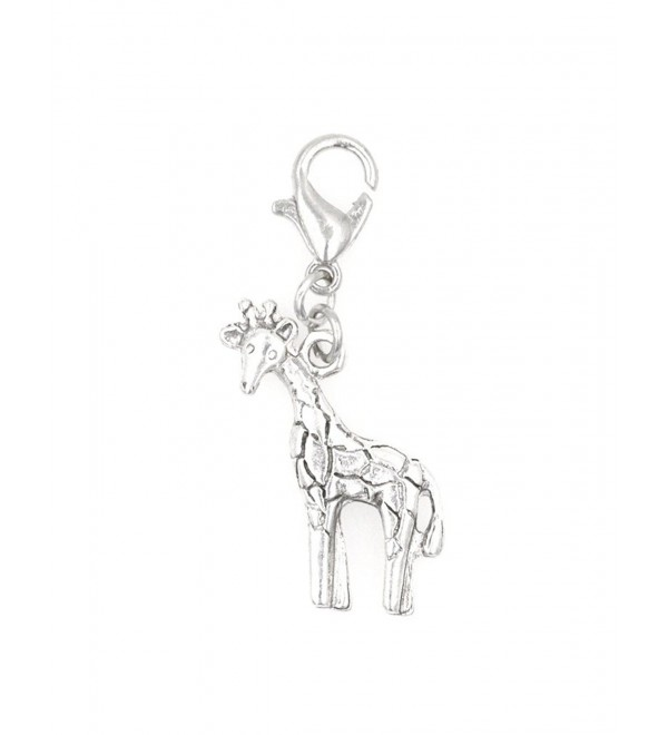 STAINLESS STEEL Clasp and Jump Rings Giraffe Clip On Charm Bead Perfect for Necklaces or Bracelets. - CZ12KBLT75X
