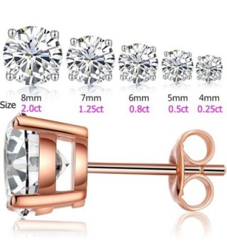 Earrings Stud Sterling Gold Plated Simulated in Women's Stud Earrings