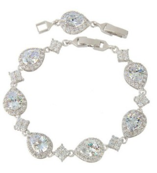 EVER FAITH Silver Tone Wedding Bracelet in Women's Tennis Bracelets