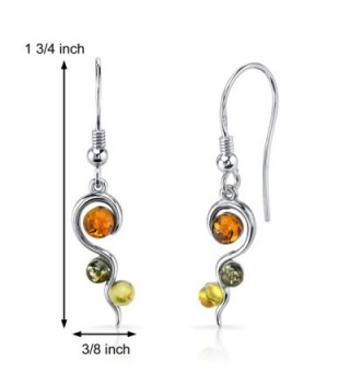 Baltic Squiggle Earrings Sterling Silver