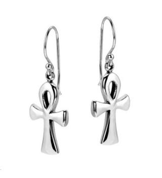 Egyptian Sterling Silver Dangle Earrings