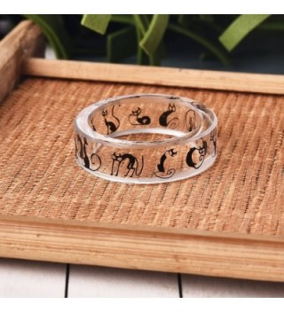 Arrival Handmade Patterns Scenery Transparent in Women's Statement Rings