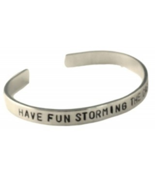 "Princess Bride Inspired Bracelet - Have Fun Storming the Castle - Hand Stamped 1/4"" Aluminum Cuff Bracelet - CZ11JPSJEED"