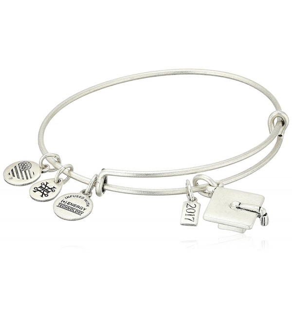 Alex and Ani Graduation Cap 2017 Bangle Bracelet - Rafaelian Silver - CX12NT3GEQ8