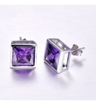 Merthus Sterling Amethyst Princess Earrings