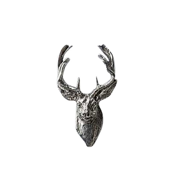 Creative Pewter Designs- Pewter Whitetail Deer Front Handcrafted Lapel Pin Brooch- M007 - C1122XILJJJ