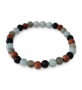 Leboha Essential Bracelet Labradorite Aquamarine in Women's Stretch Bracelets