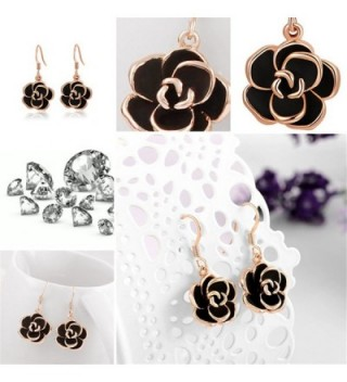 YEAHJOY Jewelry Platinum Earrings rose gold plated base