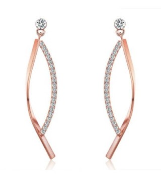 SBLING 18K Rose Gold Plated Cubic Zirconia Drop Earrings (1.5 cttw) - C8120J0VW8L