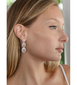 Mariell Concentric Platinum Bridesmaid Earrings