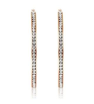 Stainless Steel Plated Inside Out Earrings in Women's Hoop Earrings