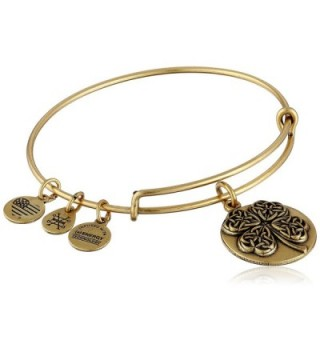 Alex and Ani Four Leaf Clover III Expandable Rafaelian Bangle Bracelet - Rafaelian Gold - CC128Y57S27