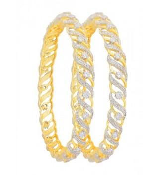 Touchstone Bollywood charming zirconia designer in Women's Bangle Bracelets