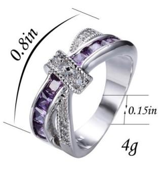 Rongxing Jewelry Amethyst Diamond Wedding
