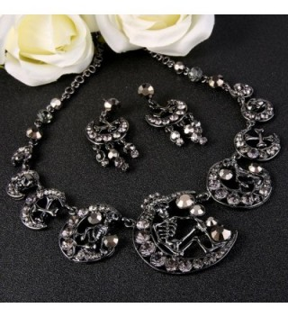 EVER FAITH Austrian Necklace Black Tone in Women's Jewelry Sets