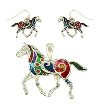 DianaL Boutique Colorful Enameled Necklace