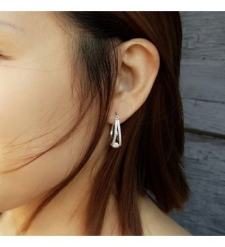 Platinum Plated Sterling Zirconia Earrings