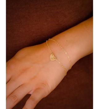 Initial Bracelet Custom Monogram Delicate in Women's ID Bracelets