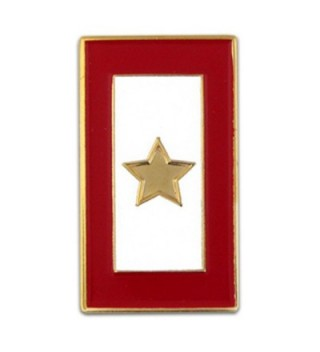 PinMart's Gold Star Service Flag for a Fallen Soldier Lapel Pin - C9110T86CF7