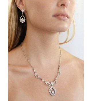 Mariell Vintage Crystal Necklace Earrings in Women's Jewelry Sets