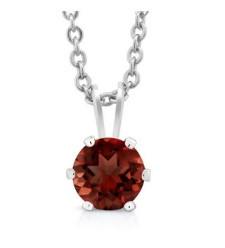Garnet Sterling Silver Earrings Pendant