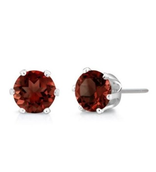 Garnet Sterling Silver Earrings Pendant in Women's Stud Earrings