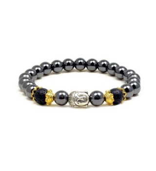Accents Kingdom Magnetic Hematite Bracelet - C011ZUT23YJ