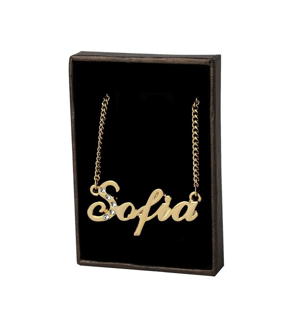 "Name Necklace ""Sofia"" 18K Gold Plated - CG11GSLCIX9"