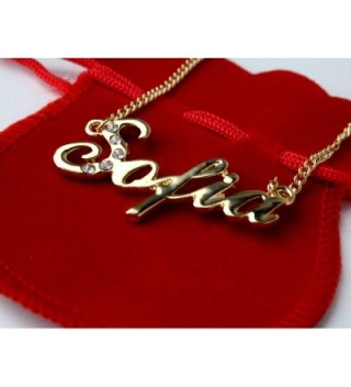 Name Necklace Sofia Gold Plated