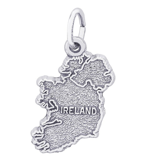 Rembrandt Sterling Silver Ireland Charm (10 x 15.5 mm) - C112ITK0NCJ